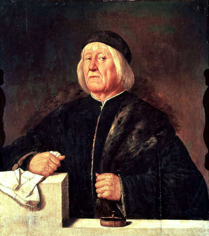 Description: Portrait of Teofilo Folengo by Romanino  (Uffizi)